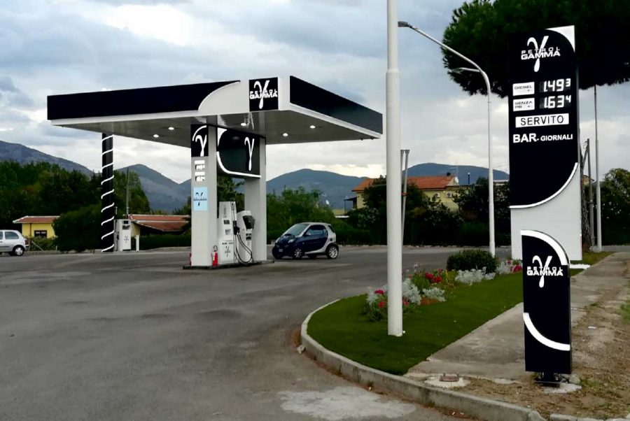 petrol gamma terracina distributore carburante